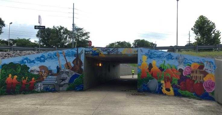 Mural street art Nashville Greenway