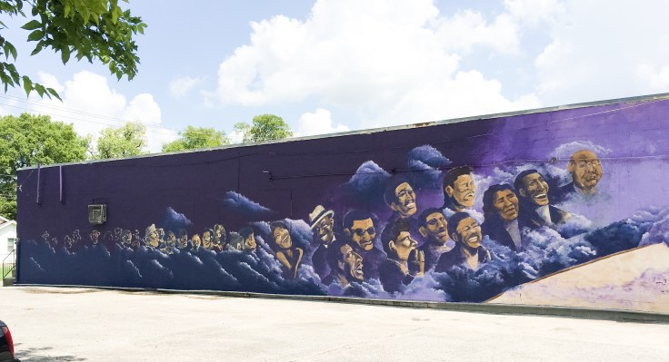 Audience mural street art Nashville