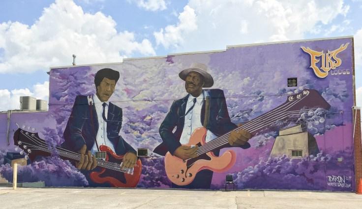 Guitarists mural street art Nashville