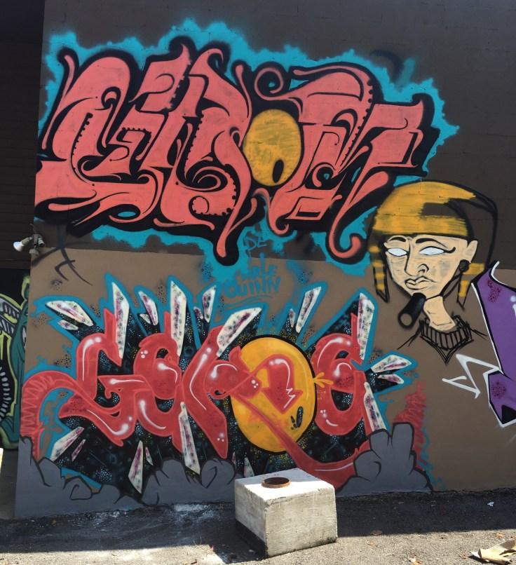 Graffiti Pharaoh street art mural Nashville