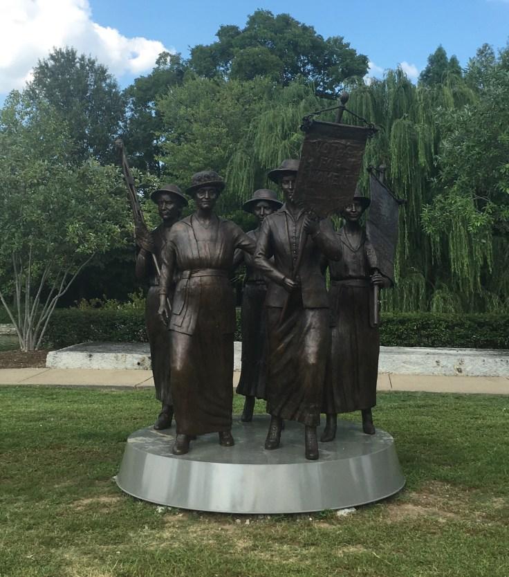 suffragists statue public art Nashville