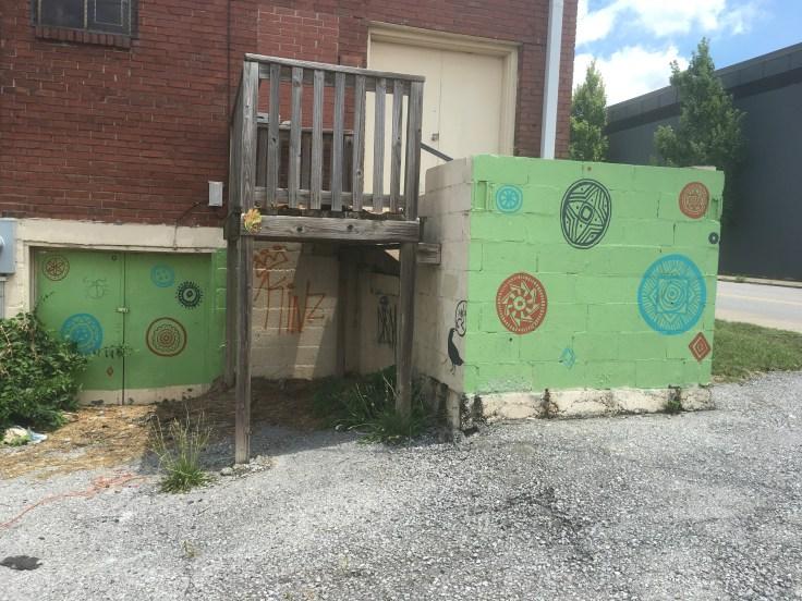 Mandala mural street art Nashville