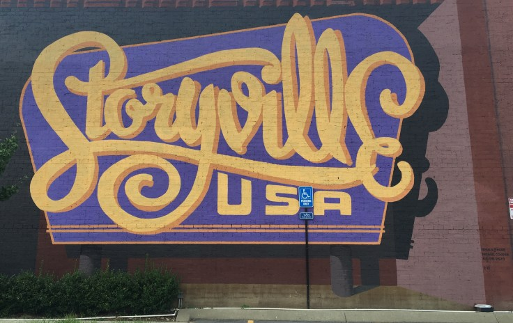 Storyville sign mural street art Nashville