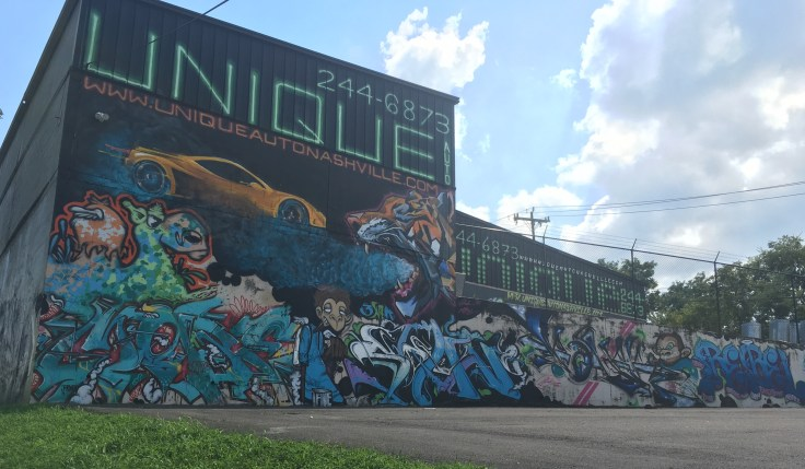 Automotive Graffiti mural street art Nashville