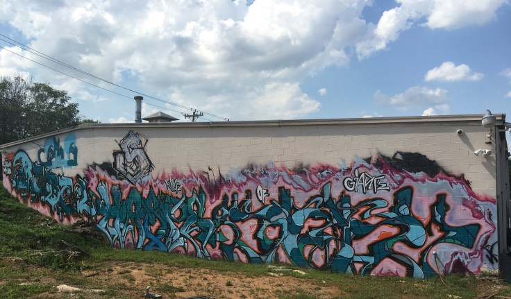 Graffiti tags mural street art Nashville