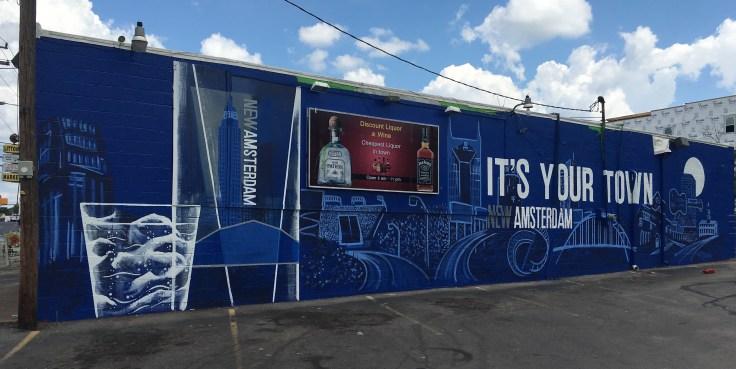 Vodka advertisement mural street art Nashville