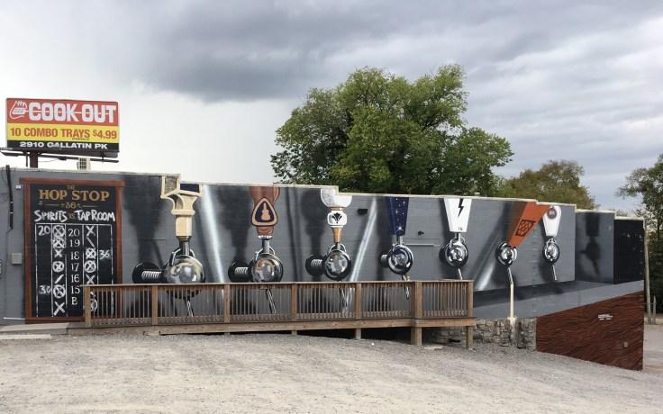 Draft beer mural street art Nashville