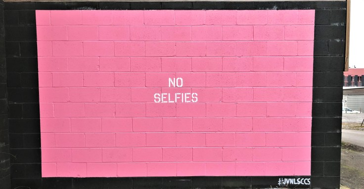 No selfies street art mural by Adrien Saporiti East Nashville