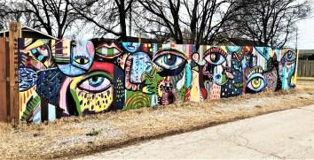 Psychedelic eyes mural street art Nashville