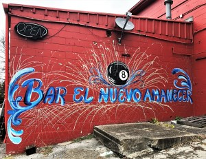 Eight Ball sign mural street art Nashville