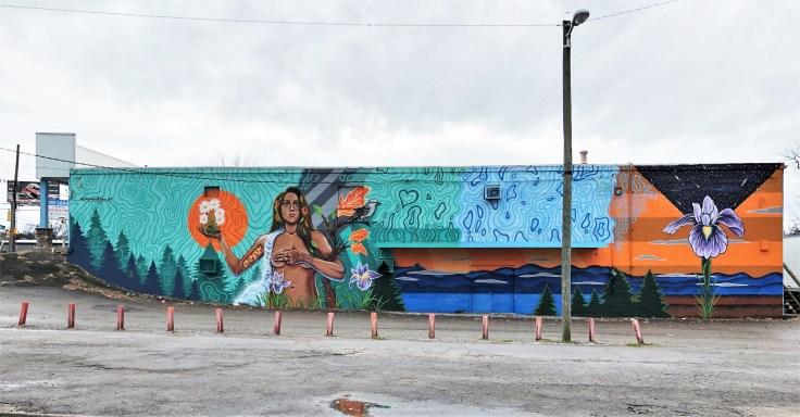 Skye Mural street art Nashville