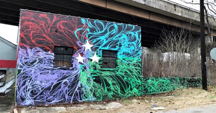 String mural street art Nashville
