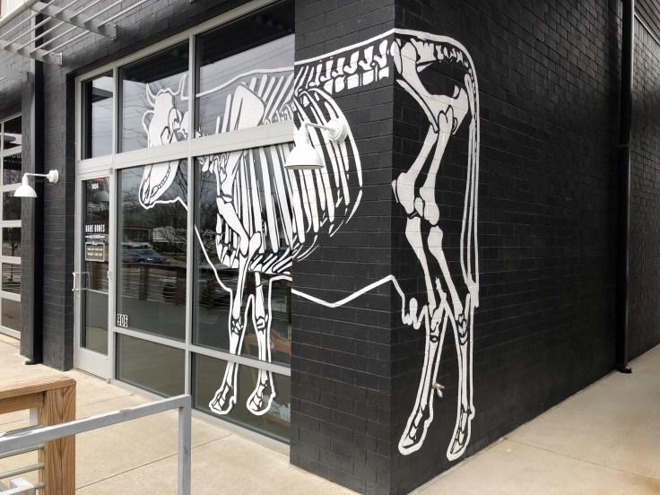 Cow mural street art sign Nashville