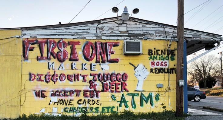 Sign mural street art Nashville