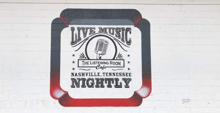 Listening Room mural sign street art Nashville