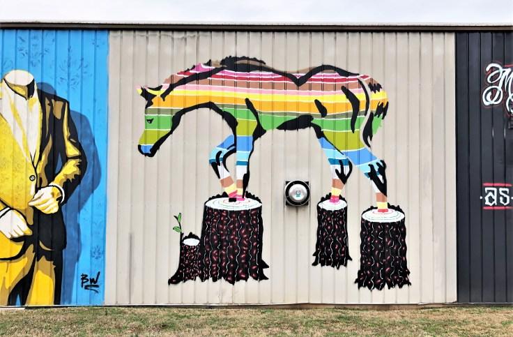 Horse mural street art Nashville