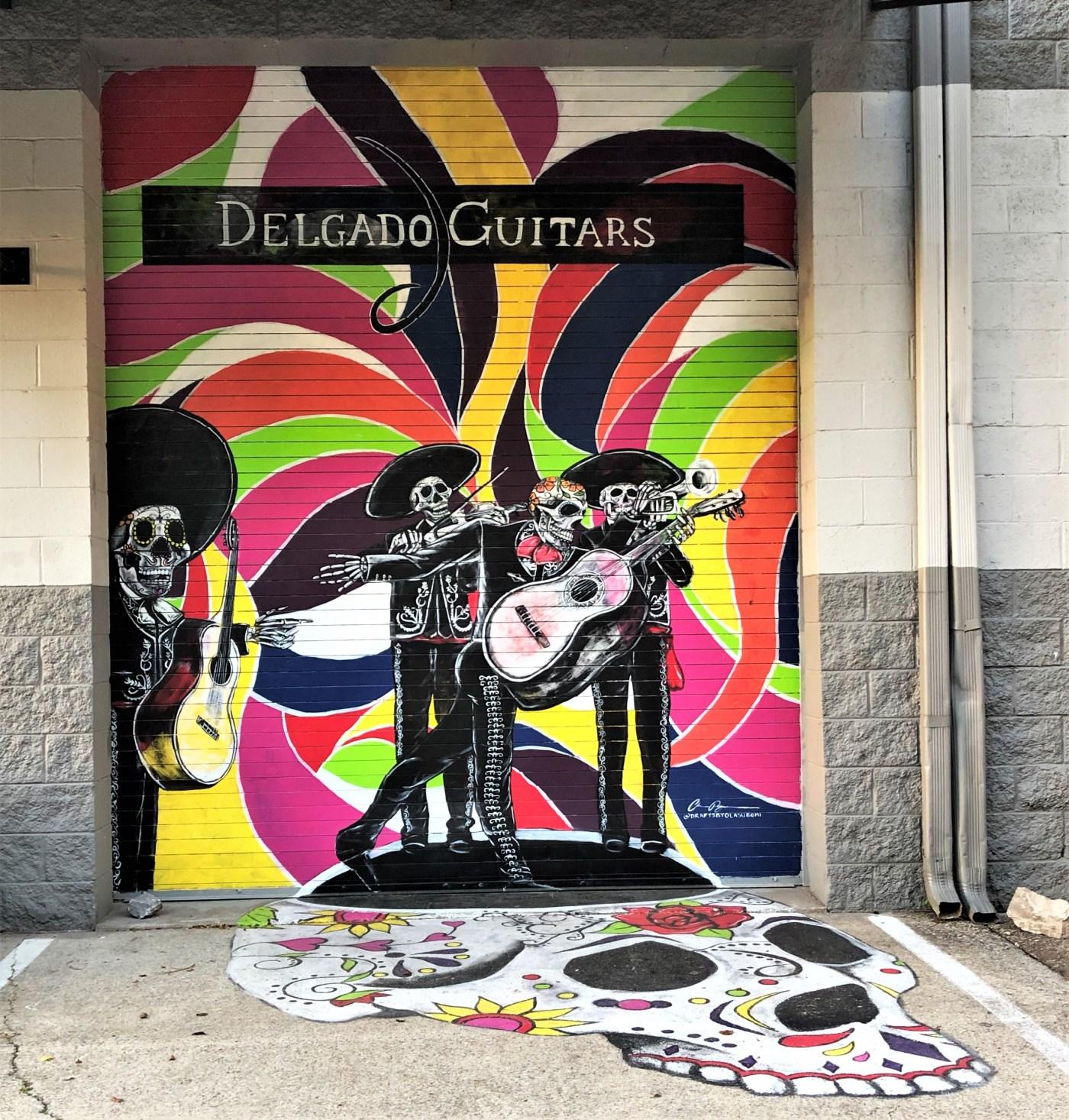Calacas mural street art Nashville