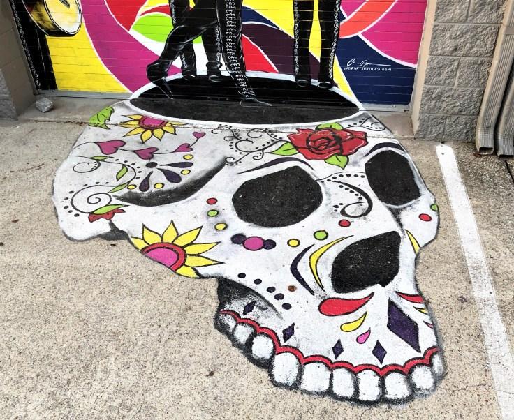 Calavera mural street art Nashville