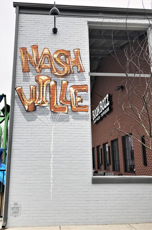 Balloons mural street art Nashville