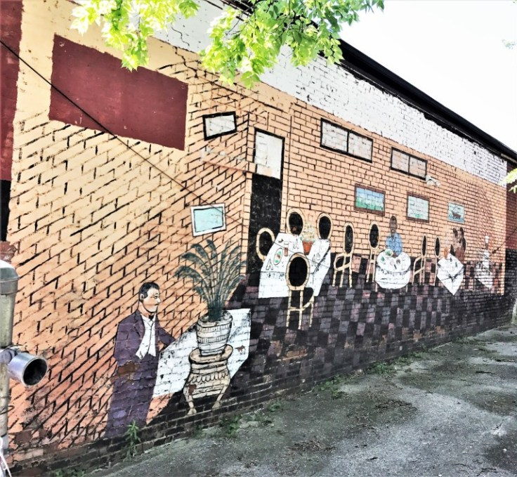 Restaurant mural street art Nashville