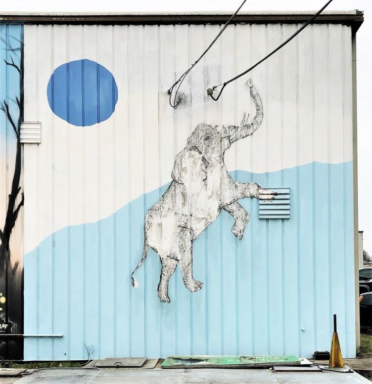 Elephant mural street art Nashville
