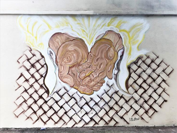 Hands mural street art Nashville