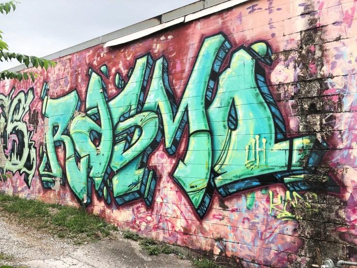 Rasmo graffiti mural street art Nashville