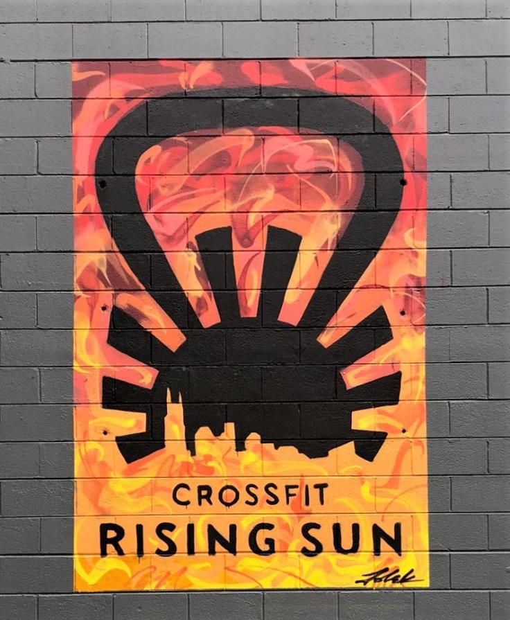 Rising Sun mural street art Nashville