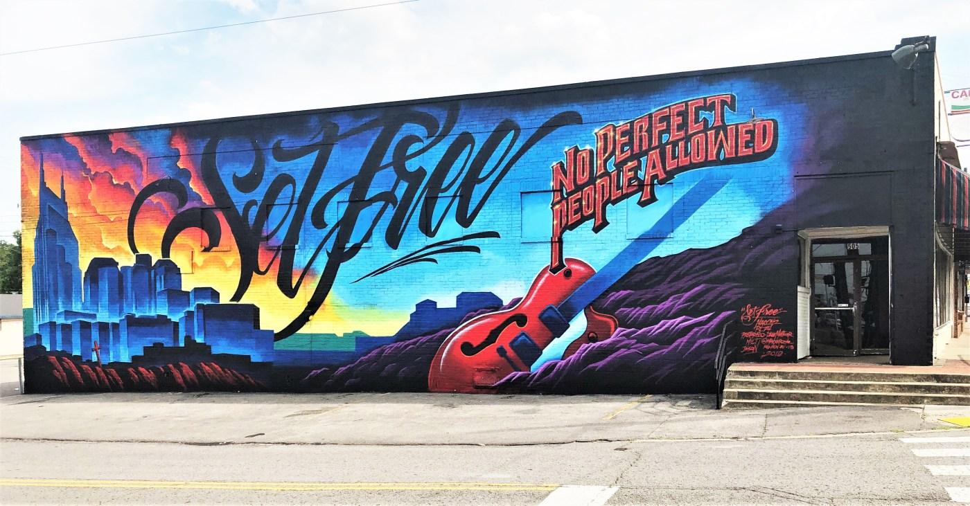 Set free mural street art Nashville