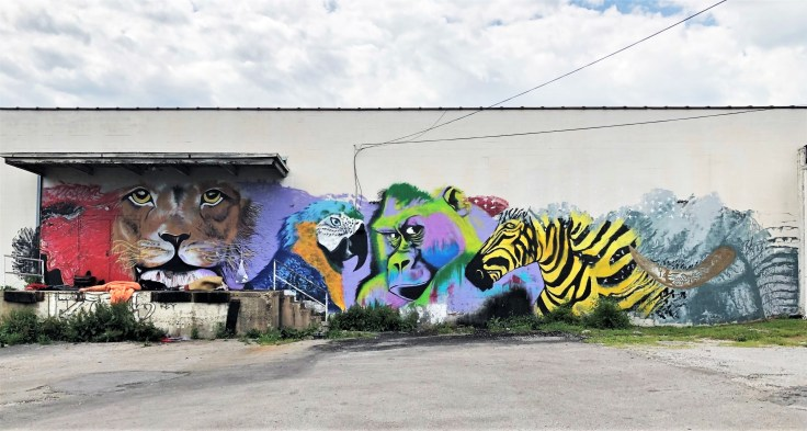 Animal Portraits mural street art Nashville