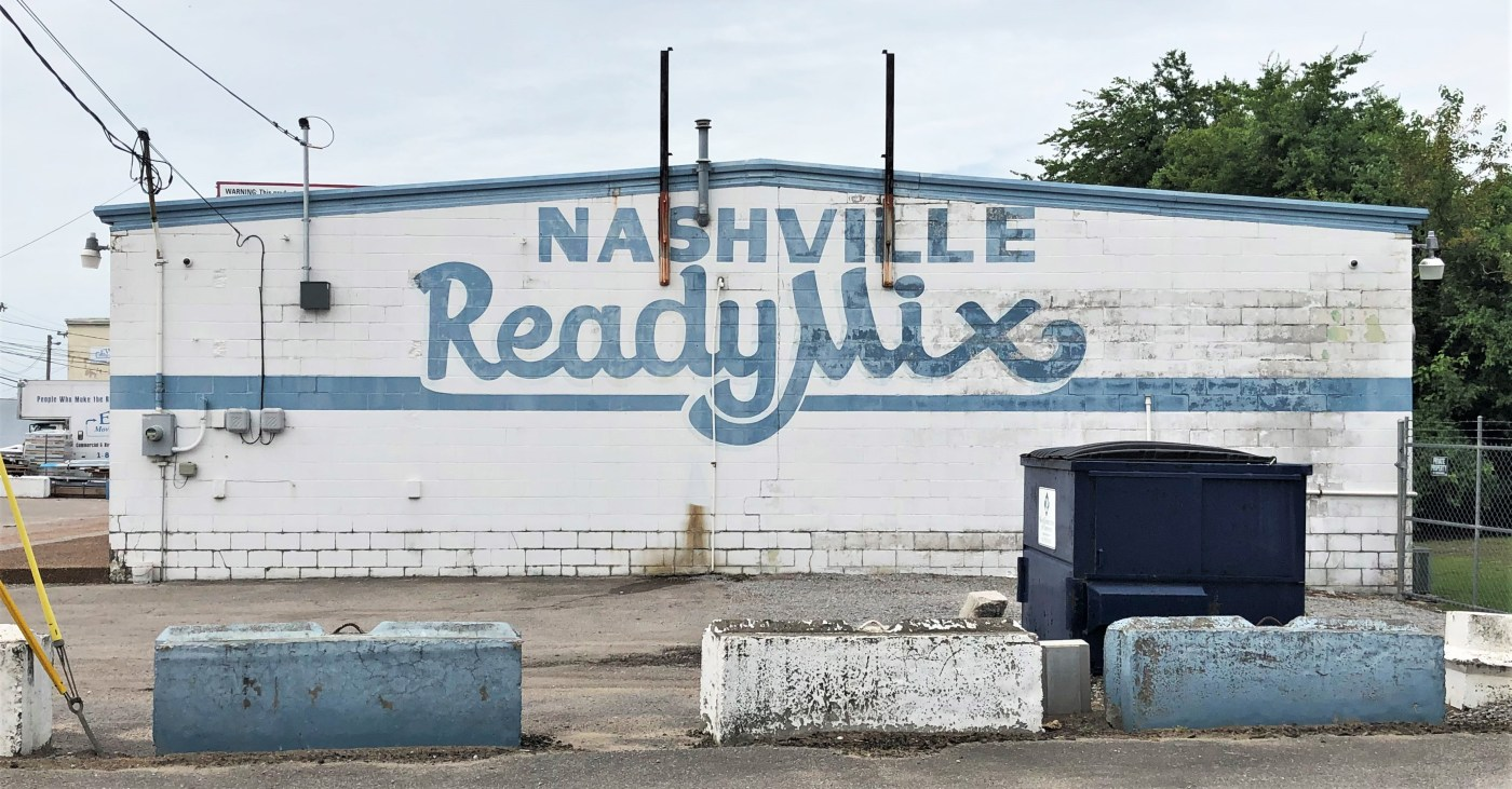 Ready Mix sign street art Nashville