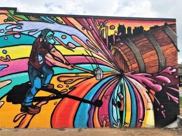 Tailgate brewer mural street art Nashville