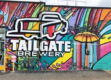 Tailgate sign mural street art Nashville