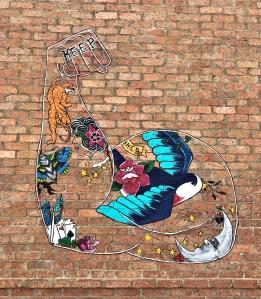 Shed arm Mural street art Nashville