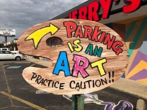 Parking mural street art Nashville