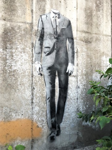 Wooden man mural street art Nashville