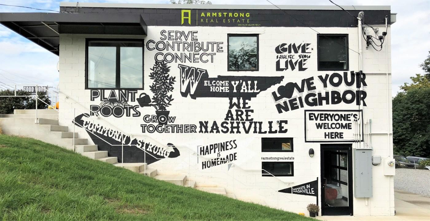 Armstrong Realty mural street art Nashville