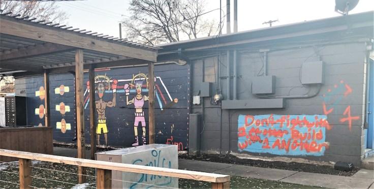 Boxing Mural street art Nashville