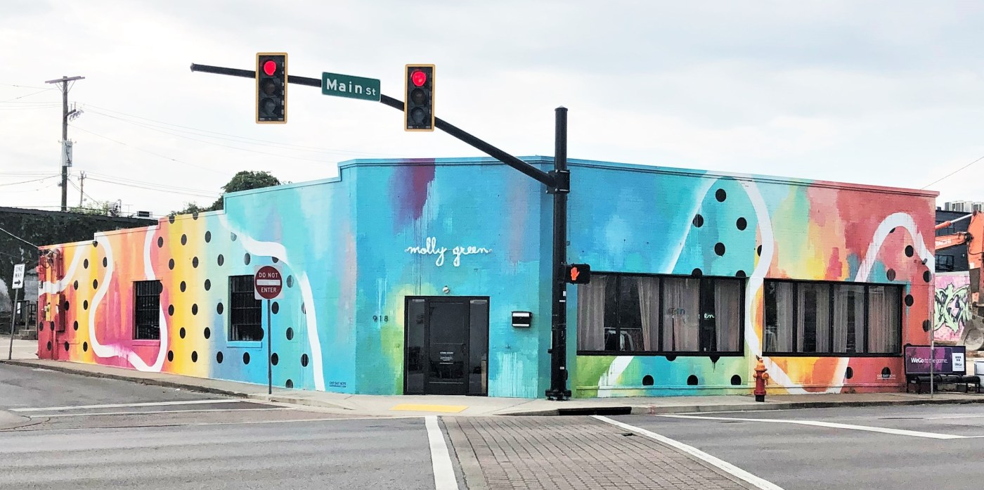 Molly Green Mural street art Nashville