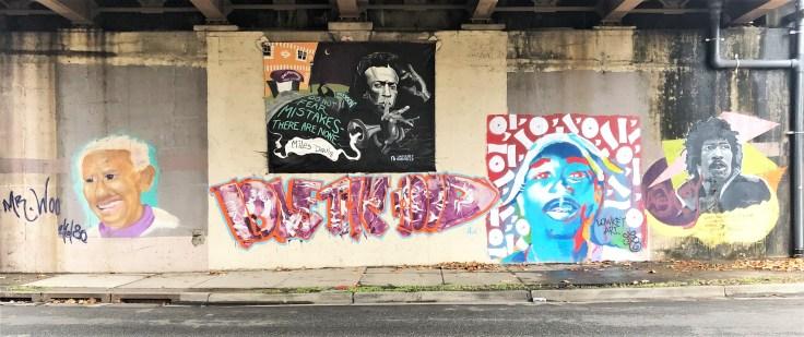 Icons mural street art Nashville