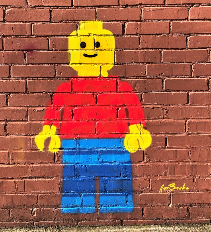For Becks Lego man street art Nashville