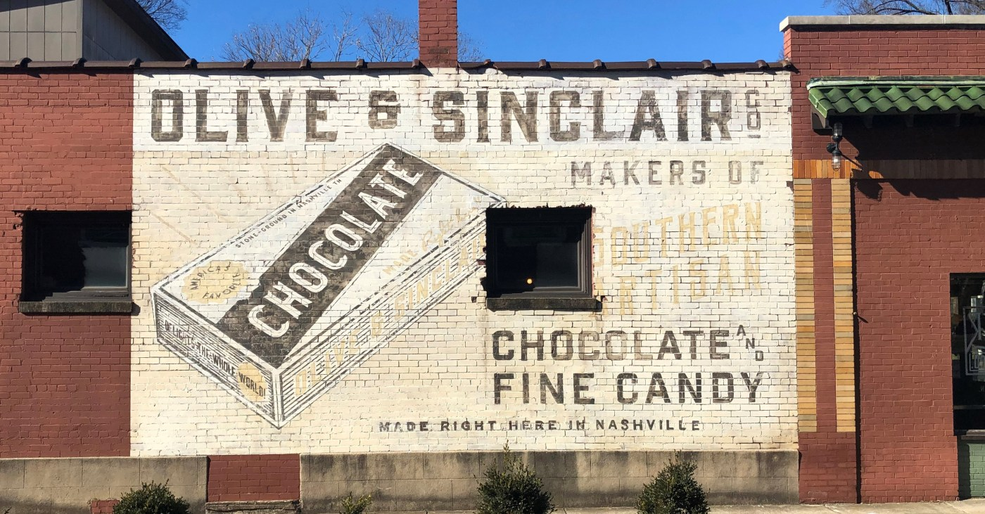 Olive Sinclair Mural sign street art Nashville