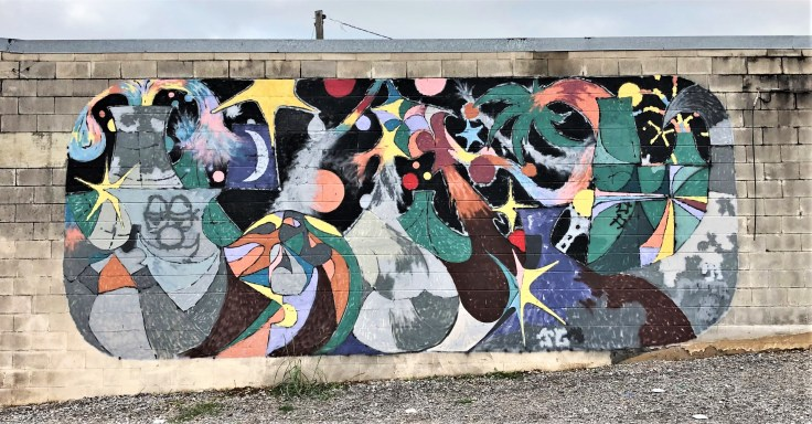 Unknown artistr mural street art Nashville