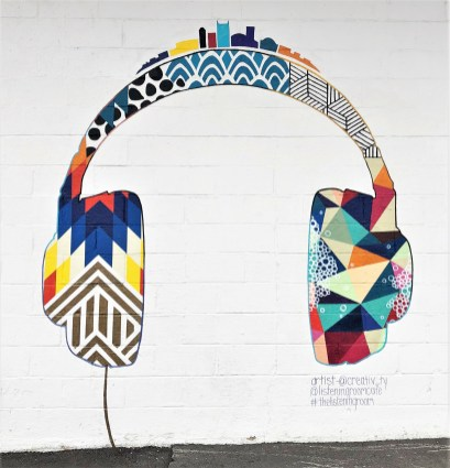 Listening Room mural street art Nashville