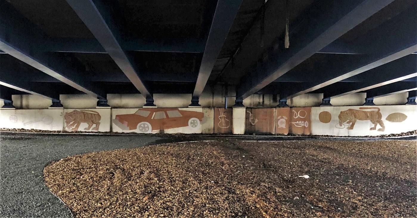 Underpass Mural Nashville street art