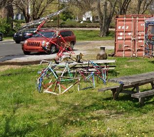 Bike sculpture street art Nashville