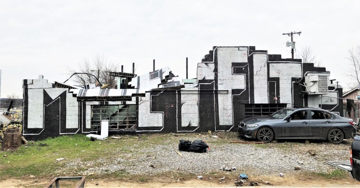Fite memorial mural street art Nashville tornado