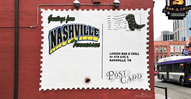 Losers Postcard mural Nashville street art