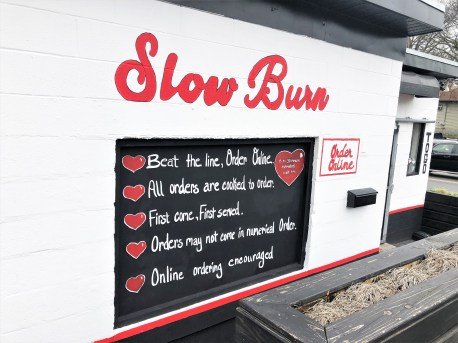 Slow Burn Sign Nashville street art mural