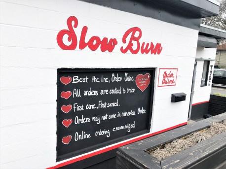 Slow Burn Sign Nashville street art mural